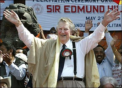 Sir Edmund Hillary in Kathmandu in 2003