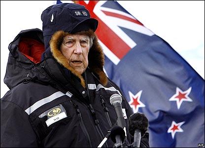 Sir Edmund in Antarctic in 2007