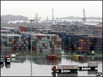Yangshan deep water port in Shanghai