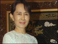 Aung San Suu Kyi, pictured in November 2007