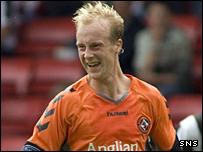 Dundee United midfielder Stuart Duff