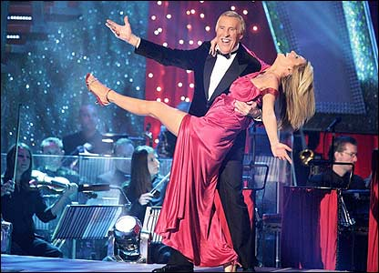 Bruce Forsyth and Tess Daly on Strictly Come Dancing