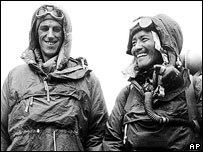Sir Edmund Hillary who, along with Sherpa Tenzing Norgay, climbed Mount Everest in 1953