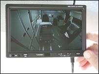 The ambulance's sat nav and rear view camera