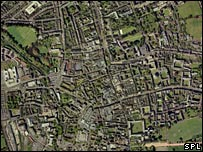 An aerial photograph of Oxford