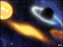 Reproducción de un agujero negro supermasivo