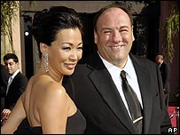 James Gandolfini and Deborah Lin