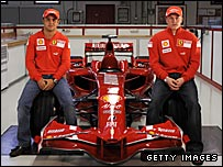 Ferrari duo Felipe Massa and Kimi Raikkonen
