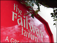The Railway Tavern sign