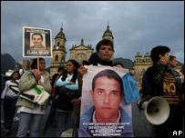 Manifestación pidiendo la liberación de rehenes de las FARC