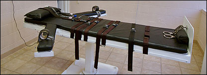 Lethal injection chamber in Louisiana
