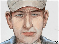 Previous artist's impression of suspect