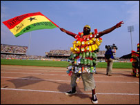 A Ghana football fan