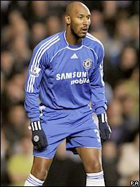 Chelsea debutant Nicolas Anelka