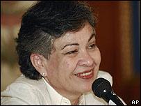 Consuelo González Perdomo en rueda de prensa en Caracas el viernes 11 de enero