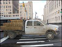 A pickup truck