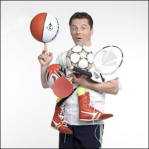 BBC Breakfast sport presenter Chris Hollins