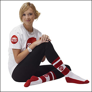 Fearne Cotton shows off her Sport Relief Socks