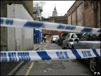 Scene in Brixton where a man was stabbed to death