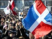 Манифестация оппозиции в Тбилиси 13 января