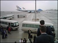 The Bush tour media pack arrives in Abu Dhabi - 13 January 2008