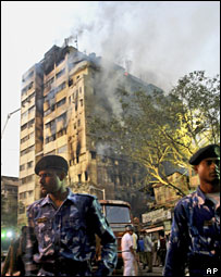 Fire at a market in Calcutta