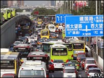 Traffic jam in Beijing, China (September 2007)