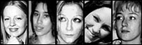 Suffolk murder victims Gemma Adams, Tania Nicol, Anneli Alderton, Annette Nicholls and Paula Clennell