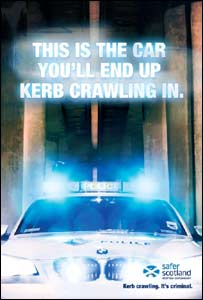 Kerb crawling campaign poster