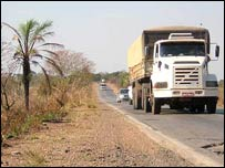 File photo from 2006 of vehicles on road in Mato Grosso