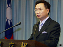 Taiwanese Foreign Minister James Huang (file photo)