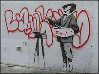 Banksy painting on the Portobello Road