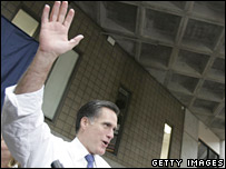 Mitt Romney campaigns in Michigan