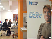 British Council's St Petersburg branch on Monday 14 January 2008