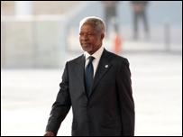 كوفي عنان، الأمين العام السابق للأمم المتحدة