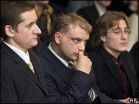 Ethnic Russians on trial in Tallinn, 14 Jan 08