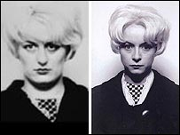 Samantha Morton (r) in costume as Myra Hindley (l)