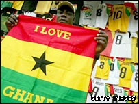 Ghana supporters are excited by the tournament being played in their country