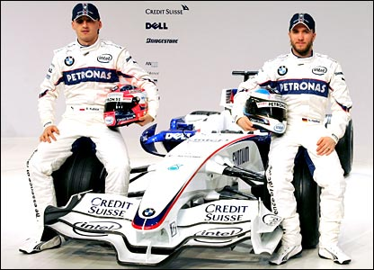 Robert Kubica (left) and Nick Heidfeld
