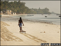 Empty Mombasa beach
