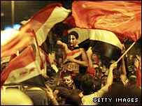 Egypt fans celebrate winning the 2006 tournament