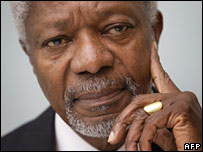 Former UN Secretary General Kofi Annan