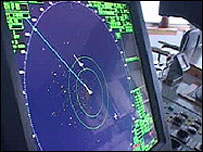 Radar on board the Greenpeace ship