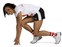 Kelly Holmes is all set for Sport Relief