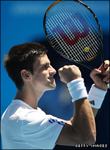 Djokovic shows why he is being tipped to challenge Roger Federer in 2008, sweeping Becker aside with some superb tennis