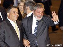 Felipe P�rez Roque y Luiz Inacio Lula da Silva