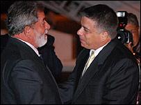 Felipe P�rez Roque y Luiz Inacio Lula da Silva (Foto Raquel P�rez)