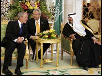 العاهل السعودي والرئيس الأمريكي