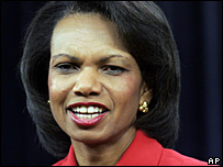 US Secretary of State Condoleezza Rice - file photo
