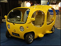 Tanghua minicar at Detroit Auto Show